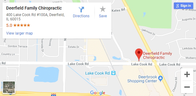 Map of Deerfield Chiropractors